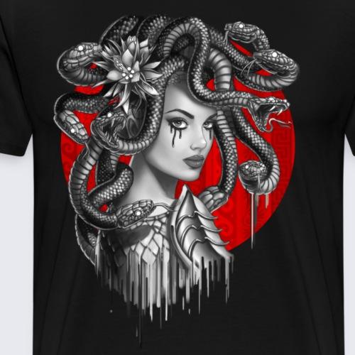 Snake Head Girl Medusa - Men's Premium T-Shirt