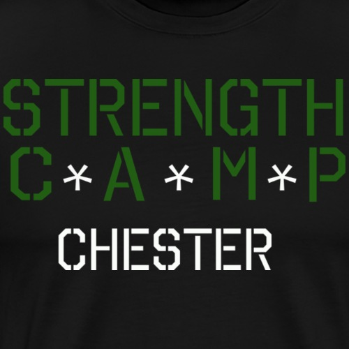 strength camp green and white - Men's Premium T-Shirt