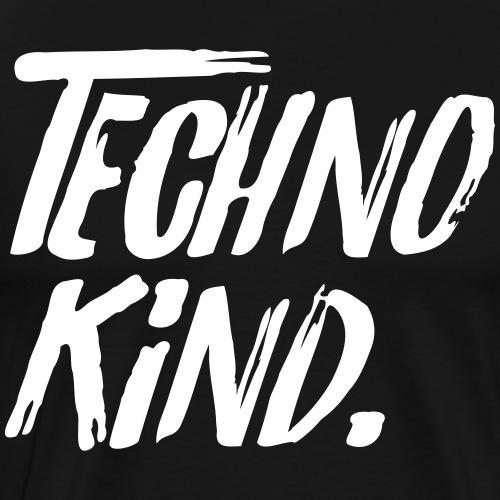 Techno Kind Raver Familie Afterhour Musik DJ Liebe - Männer Premium T-Shirt