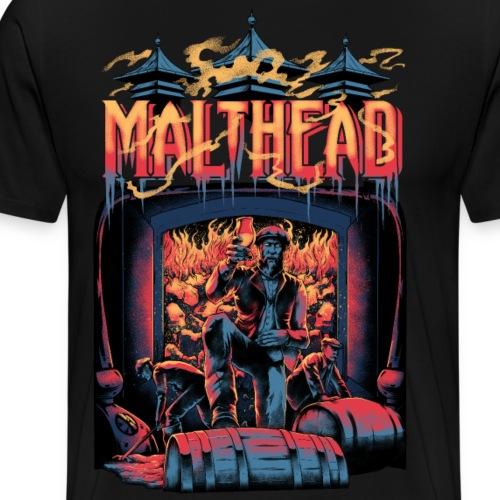 Malthead Whisky Fan Shirt - Whisky Turntable - Männer Premium T-Shirt