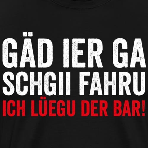 ICH LÜEGU DER BAR! - Männer Premium T-Shirt