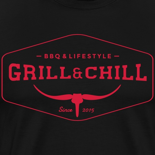 BBQ and Chill / BBQ and Lifestyle logo 1 - Men's Premium T-Shirt