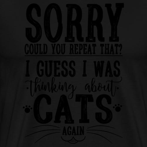 Sorry Cats I - Miesten premium t-paita