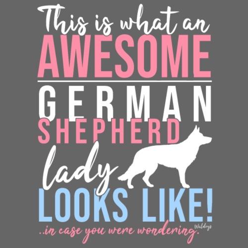 GSD Awesome Lady SH - Miesten premium t-paita