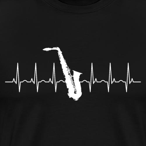 Saxophon Herzschlag - Männer Premium T-Shirt