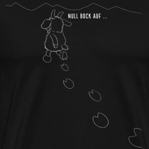 Schafbock: Null Bock auf - weiß - Männer Premium T-Shirt