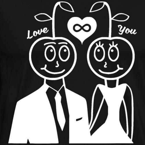 Happy Kirsche Weiß - Männer Premium T-Shirt