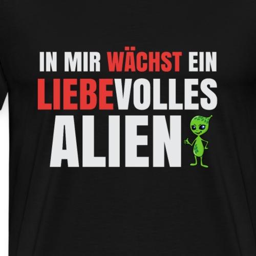 T-Shirt für Schwangere - In mir wächst ein Alien - Männer Premium T-Shirt