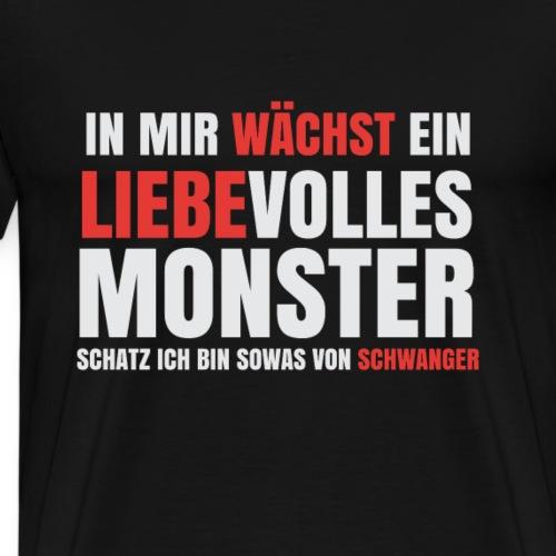 T-Shirt für Schwangere - In mir wächst ein Monster - Männer Premium T-Shirt