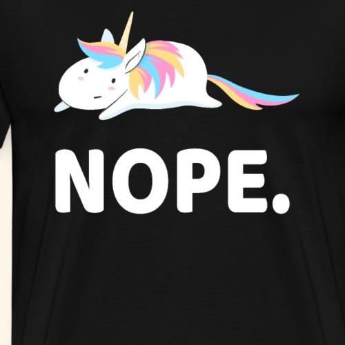 Einhorn Unicorn Nope Tier Design - Männer Premium T-Shirt