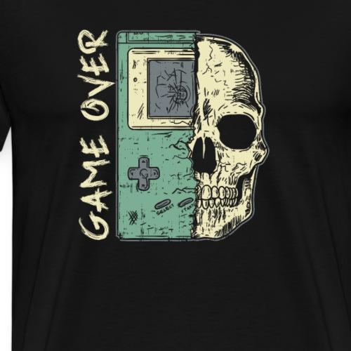 Game over Gaming Spruch Outfit für Zocker Gamer - Männer Premium T-Shirt