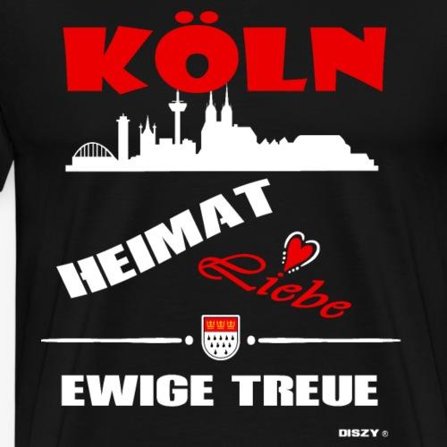Köln Heimat Liebe Ewige Treue Veedel Hätz - Männer Premium T-Shirt