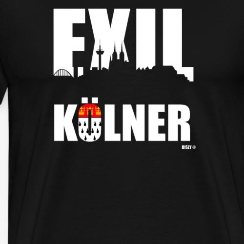 Exilkölner mit Skyline & Wappen für Kölner im Exil - Männer Premium T-Shirt