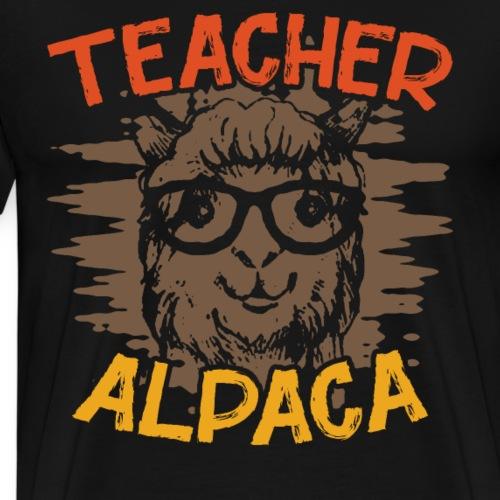 TEACHER ALPACA - Männer Premium T-Shirt