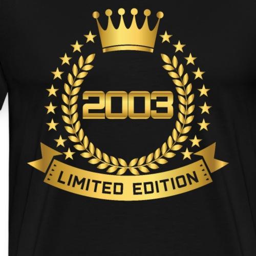 2003 LIMITED EDITION - 18. Geburtstag GOLD - Männer Premium T-Shirt