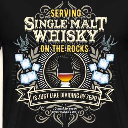 Whisky T Shirt Single Malt on the Rocks - Männer Premium T-Shirt