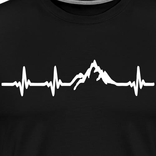 Herzschlag - Berg - Männer Premium T-Shirt
