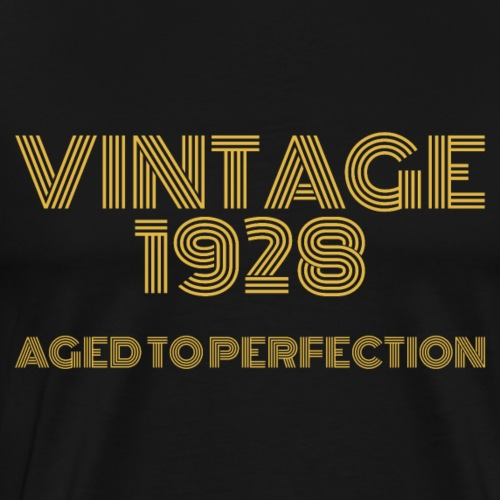 Vintage Pop Art 1928 Birthday. Aged to perfection. - Men's Premium T-Shirt