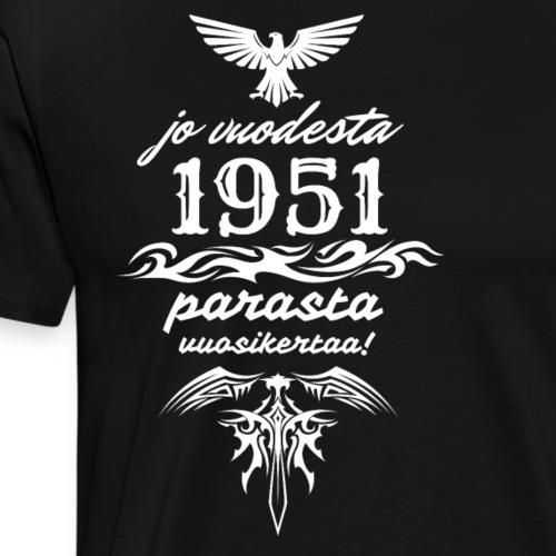Parasta vuosikertaa, 1951 - Miesten premium t-paita