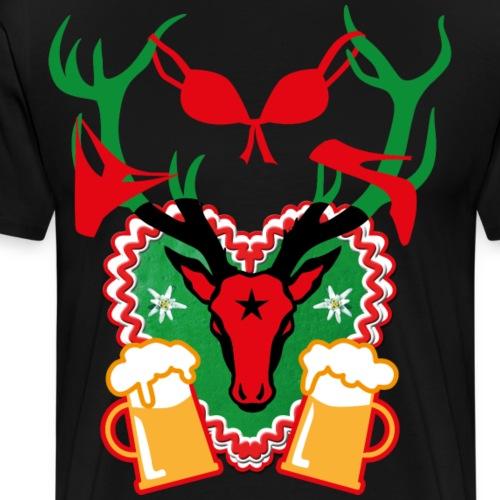 67 Lebkuchenherz Party Hirsch Bier Sex - Männer Premium T-Shirt