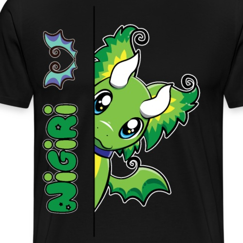 Nigiri the Cute and Whimsical Dragon - Men's Premium T-Shirt