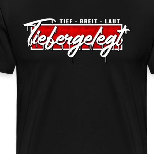 Tiefergelegt Tief-Breit-Laut Deep Style Red Box - Männer Premium T-Shirt