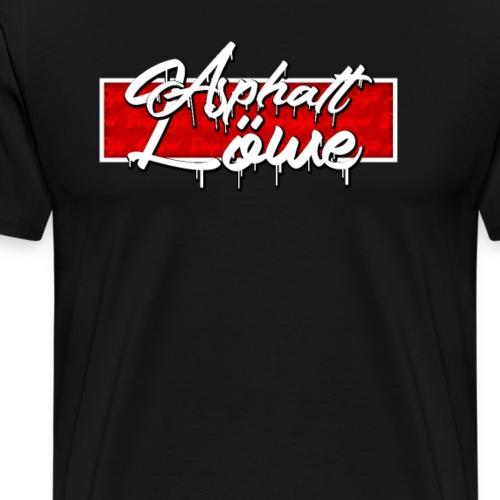 Asphalt Löwe Deep Style Grunge Box Design Rot - Männer Premium T-Shirt
