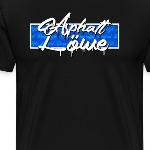 Asphalt Löwe Deep Style Grunge Box Design Blau - Männer Premium T-Shirt