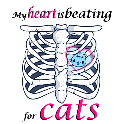 Cat Paws Medic Paw My heart beats for cat - Men's Premium T-Shirt