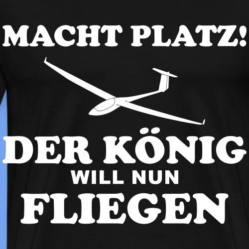 König fliegen lustig Segelflieger gleiten Pilot - Männer Premium T-Shirt