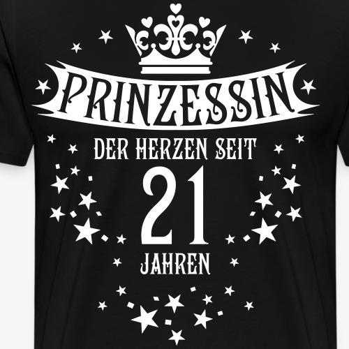 16 Prinzessin der Herzen seit 21 Jahren Geburtstag - Männer Premium T-Shirt