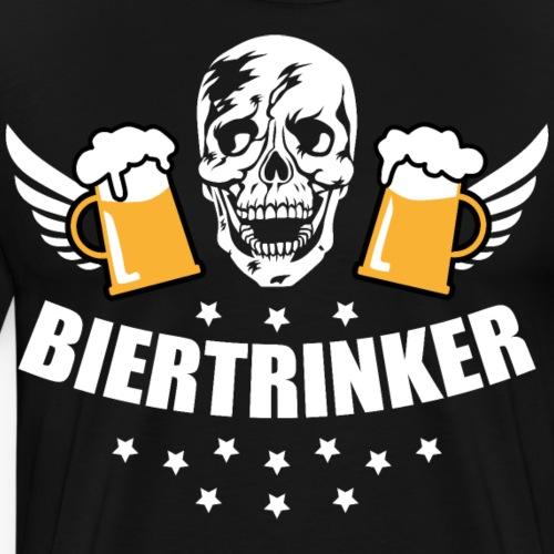 125 Biertrinker Totenkopf Maß Bier Prost
