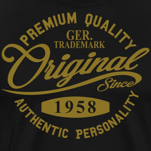 Original Since 1958 Handwriting Premium Quality - Männer Premium T-Shirt