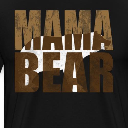 Mama Bär Design Bären Mutter Geschenk Idee - Männer Premium T-Shirt