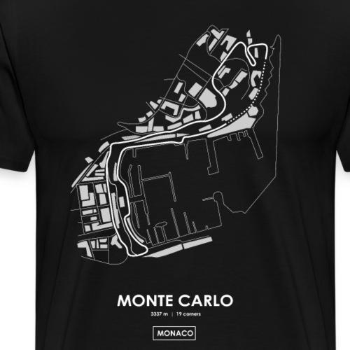 MONTE CARLO TRACK MAP (english) - Men's Premium T-Shirt