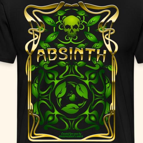 Absinth Art Nouveau T Shirt Design - Männer Premium T-Shirt
