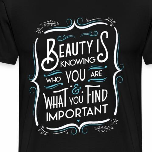 La beauté c'est savoir (Bleu) - Men's Premium T-Shirt