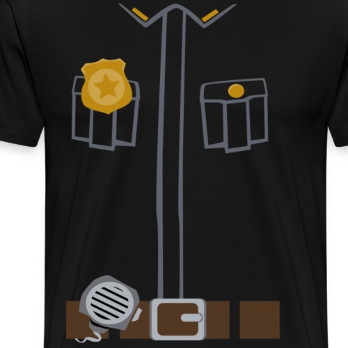 Police Costume Black - Men's Premium T-Shirt