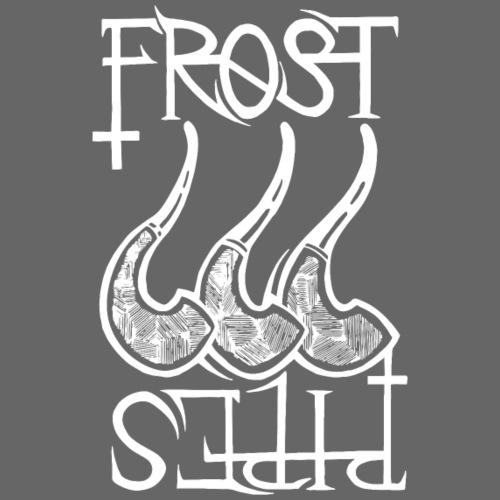 Frost Pipes Logo White - Men's Premium T-Shirt