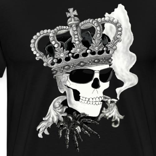 Skull mit Brille - Männer Premium T-Shirt