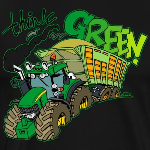 think green border - Mannen Premium T-shirt