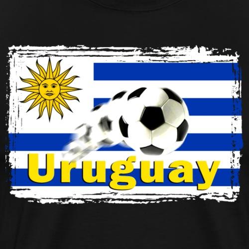Uruguay Fussball - Männer Premium T-Shirt