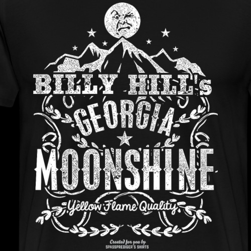 Whiskey Tee Shirt Design Georgia Moonshine - Men's Premium T-Shirt
