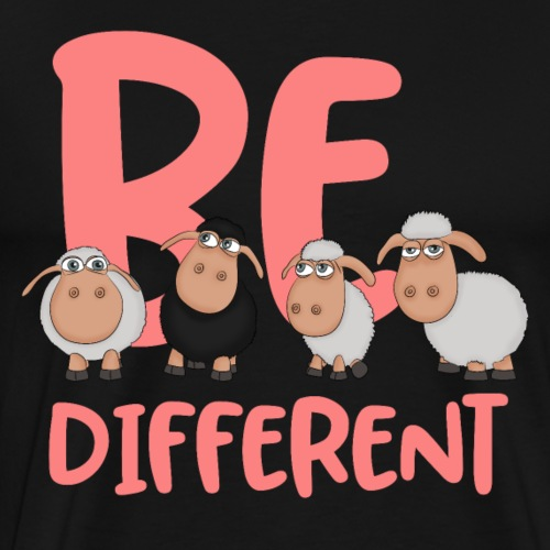 Be different pink sheep - Unique sheep - Men's Premium T-Shirt