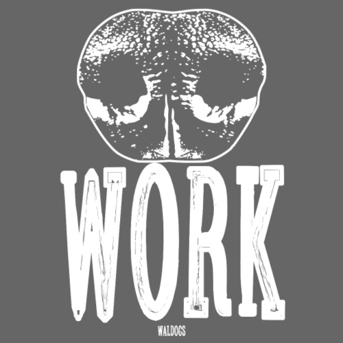 Nose Work White - Miesten premium t-paita