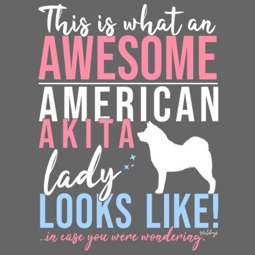 Awesome AA Lady - Miesten premium t-paita