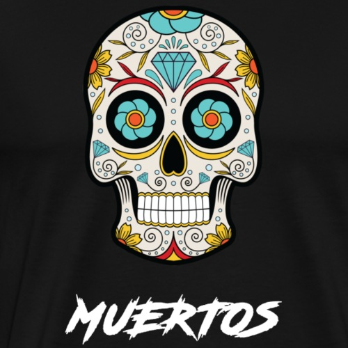 Colored Skull - T-shirt Premium Homme