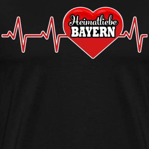 HEIMATLIEBE BAYERN - Männer Premium T-Shirt