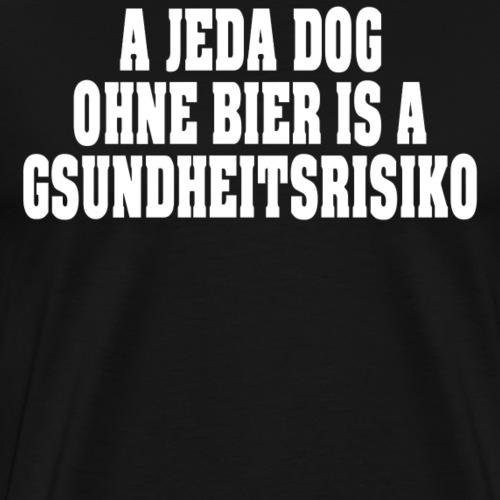 A JEDA DOG OHNE BIER... - Männer Premium T-Shirt