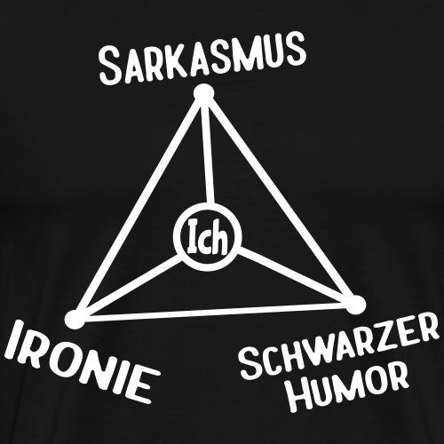 Ironie Sarkasmus Schwarzer Humor Nerd Dreieck - Männer Premium T-Shirt
